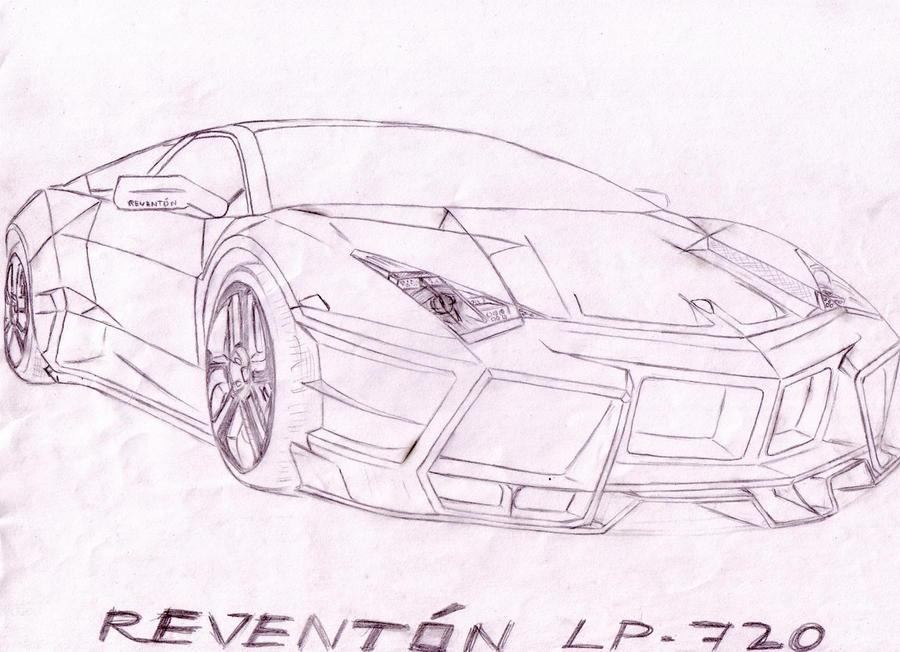 lamborghini reventon drawings - photo #13
