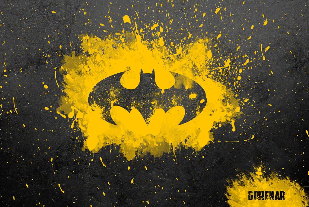 Batman Paint Splatter By Gorenarr On Deviantart