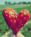 strawberry heart..