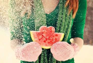 ice..fruit heart