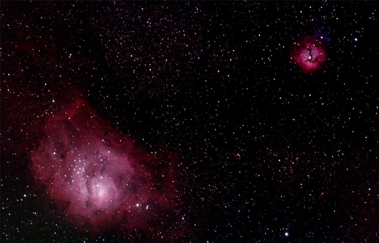 lagoon trifid nebula - photo #18