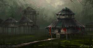 Swamp Village by MariGrom