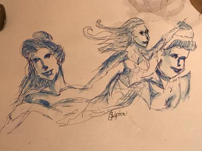 Tablework:Three Princesses