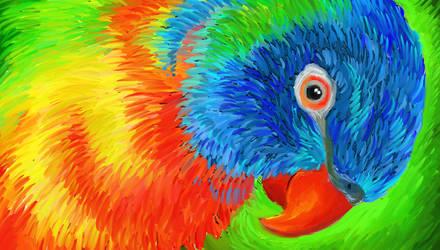 rainbow lorikeet by FeatheredDiva