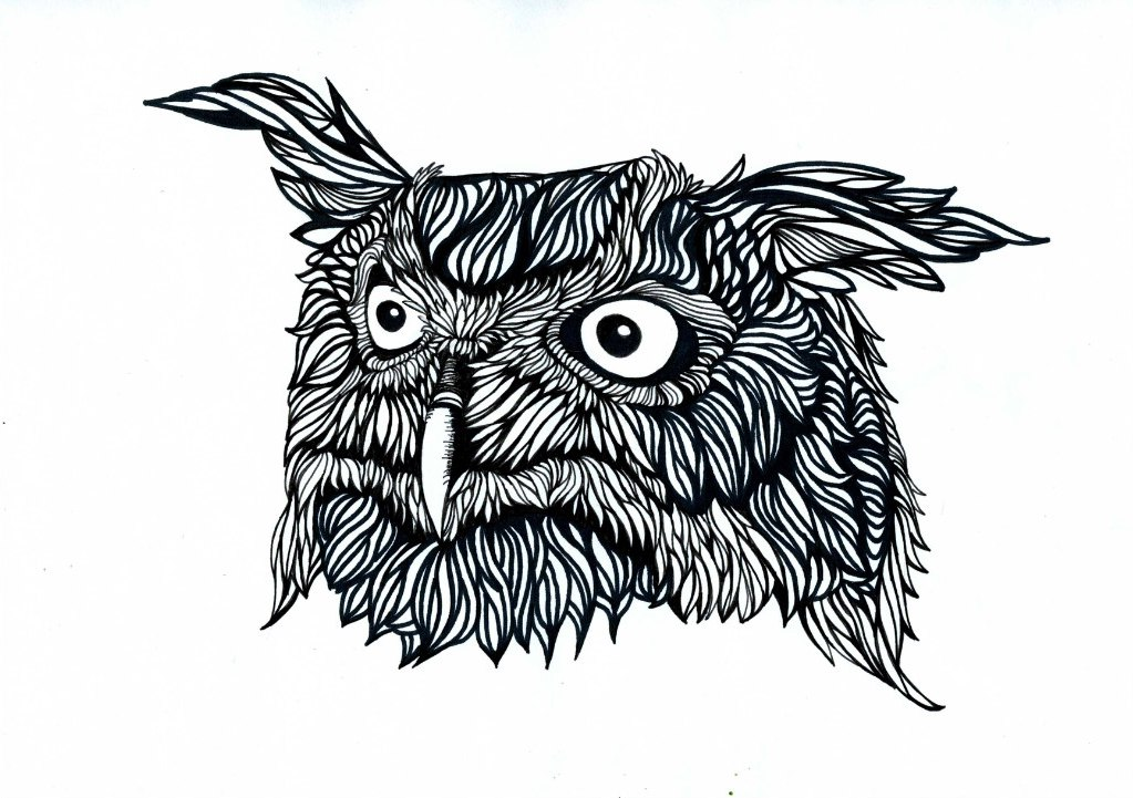 black owl by FeatheredDiva
