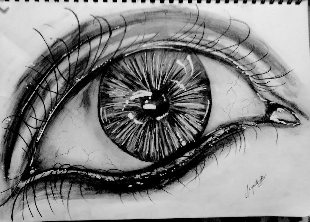Realistic eye by joyeeta1999