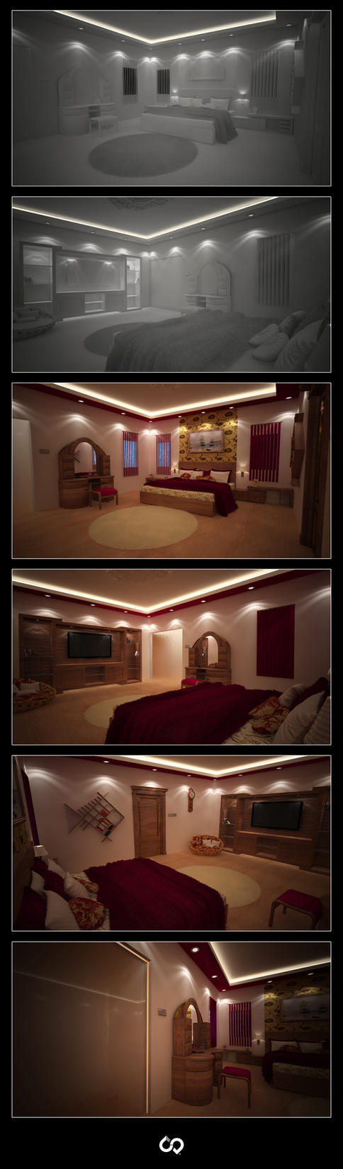 Bedroom Interior concept by CanorousDesign