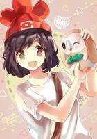 Pokemon Moon/Sun - Rowlet by Neko-Slay