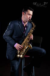 Saxophonist by Antony-Hell