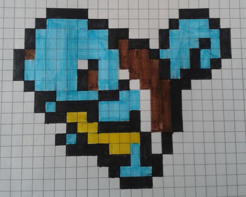 8 Bit Megaman Colored Grid by TheInsanePoet on deviantART