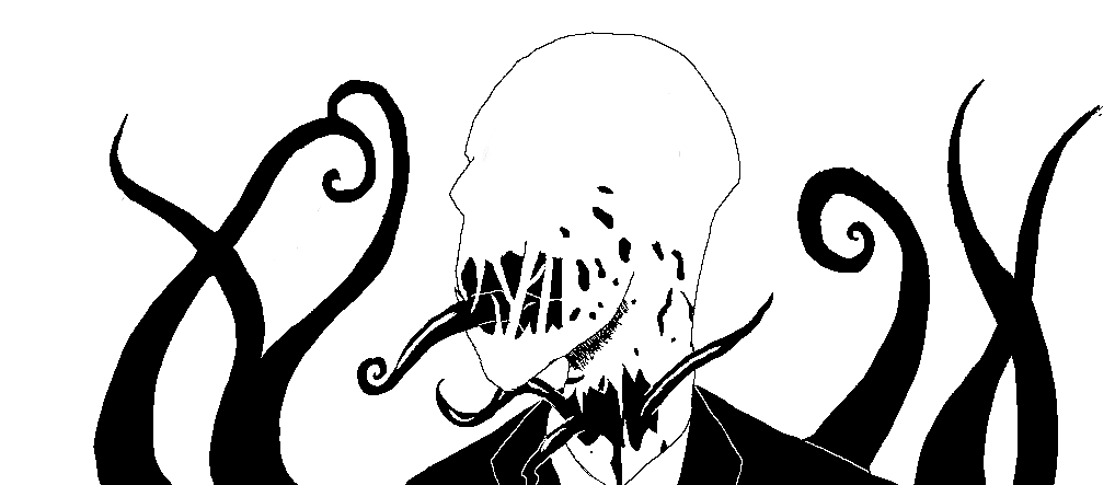 Scary Slenderman Drawing Slender Man Drawing1018 x 443