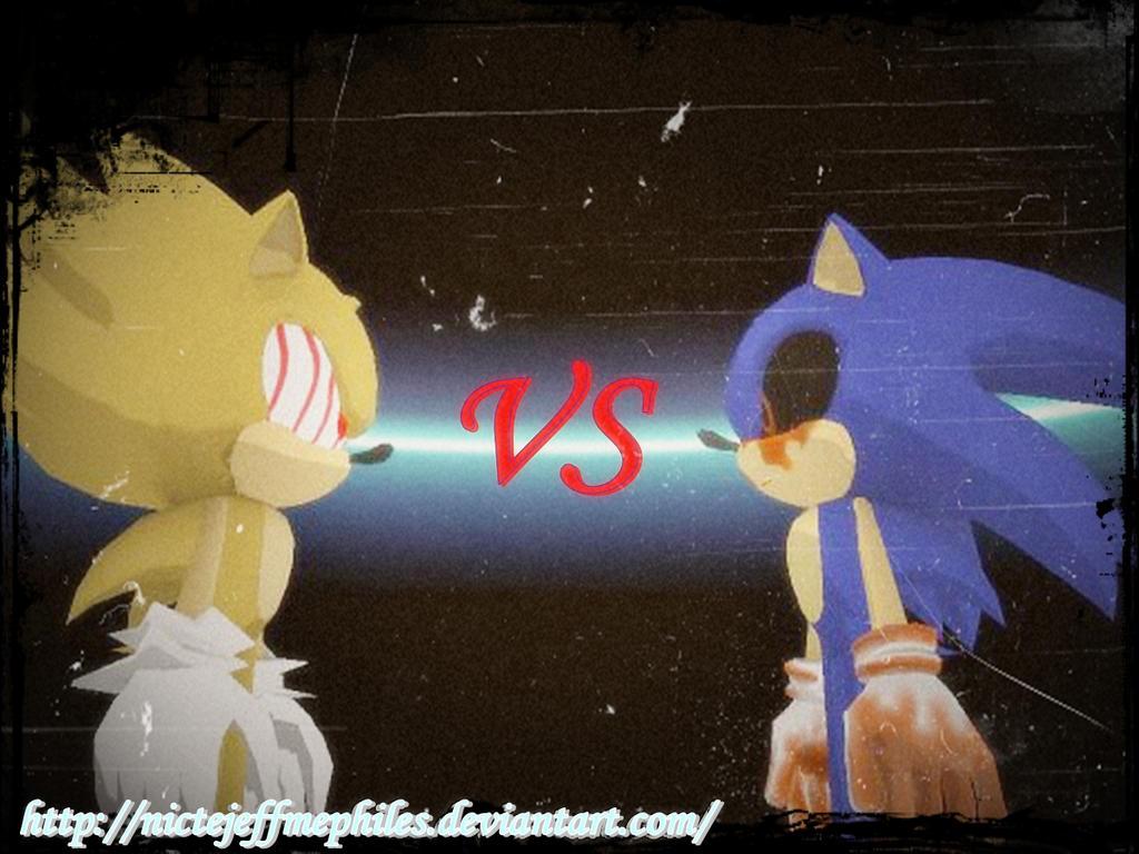 Fleetway vs Sonic.exe by NicteJeffMephiles