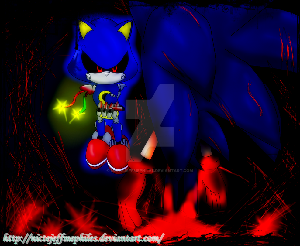 Metal Sonic vs Sonic exe by NicteJeffMephiles on DeviantArt