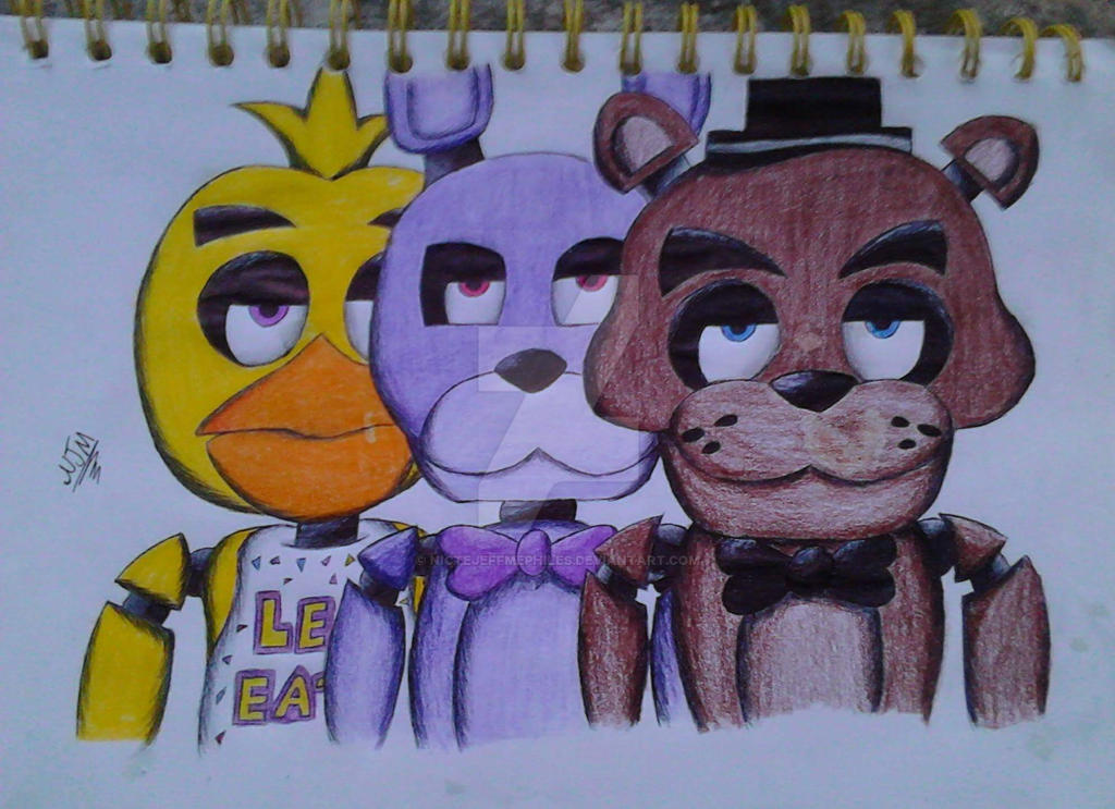 Five Nights At Freddys By Nictejeffmephiles On Deviantart