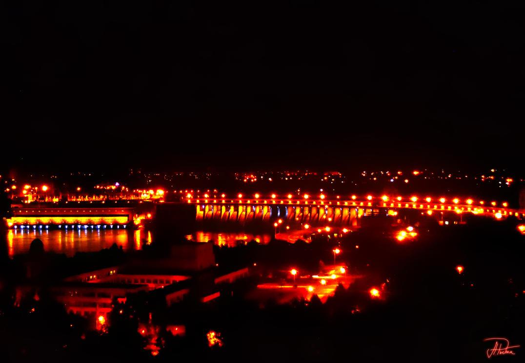 Dnieper Hydroelectric Station in Zaporizhya by Enya-kun
