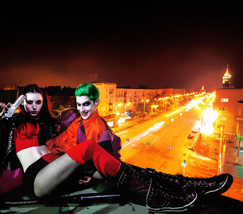Joker and Harley Quinn by Enya-kun