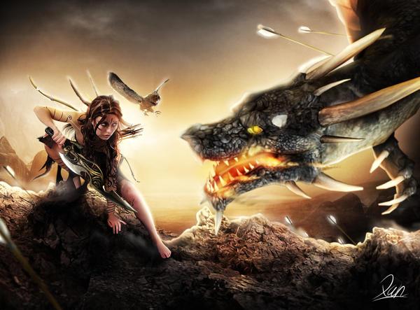 Dragon Warrior by Xan-04