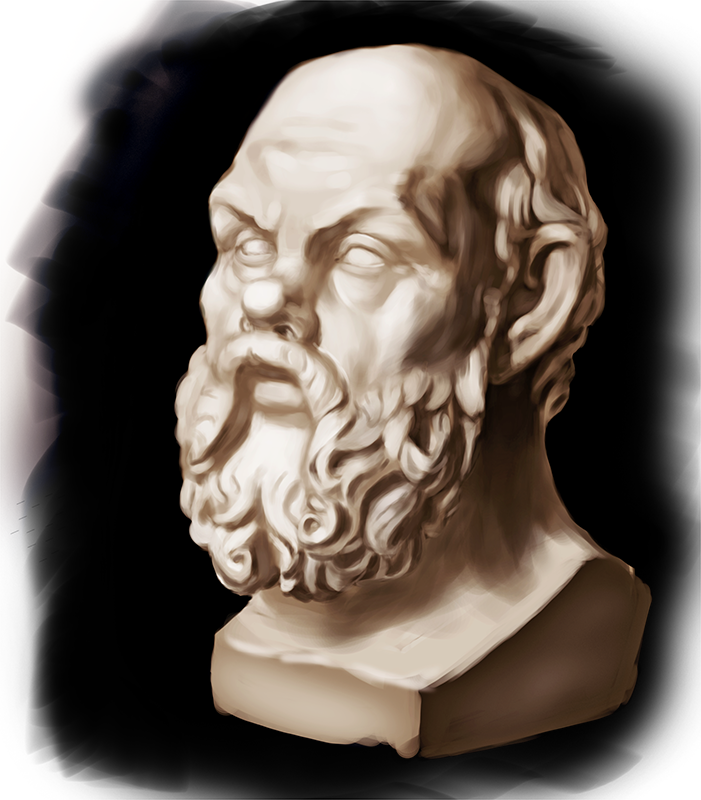 Studies Socrates head by CGrey