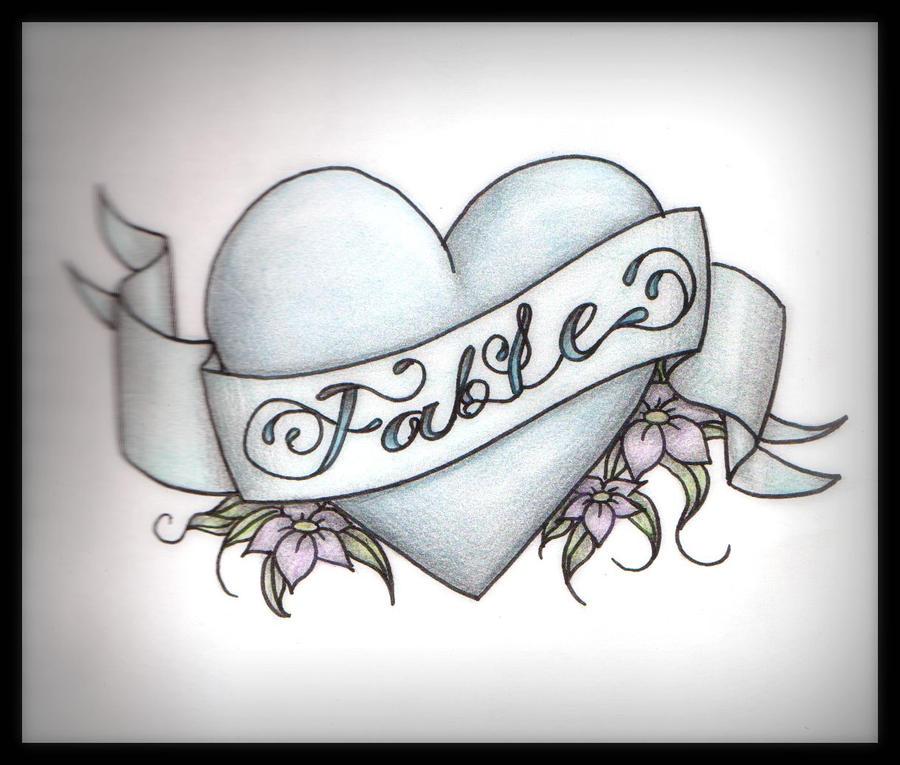 fable heart tattoo by kama von llama on deviantart. Black Bedroom Furniture Sets. Home Design Ideas