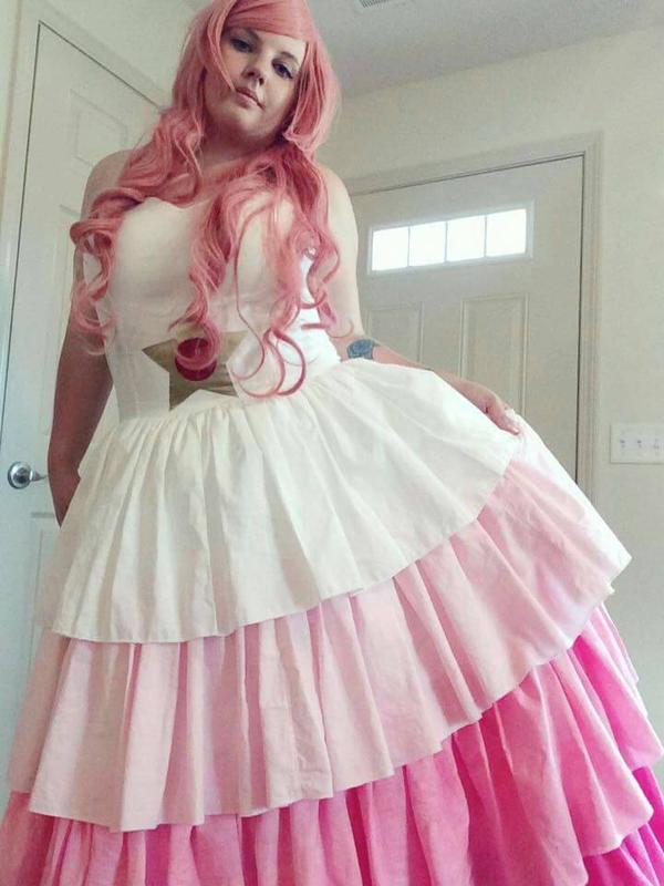 Rose Quartz Dress WIP by Kama-von-Llama