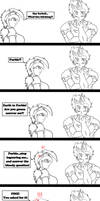 Comic sketch : A reversed lesson by wLadyB91