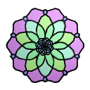 Stained Glass flower 2 (ftu) by cuppycakekitty