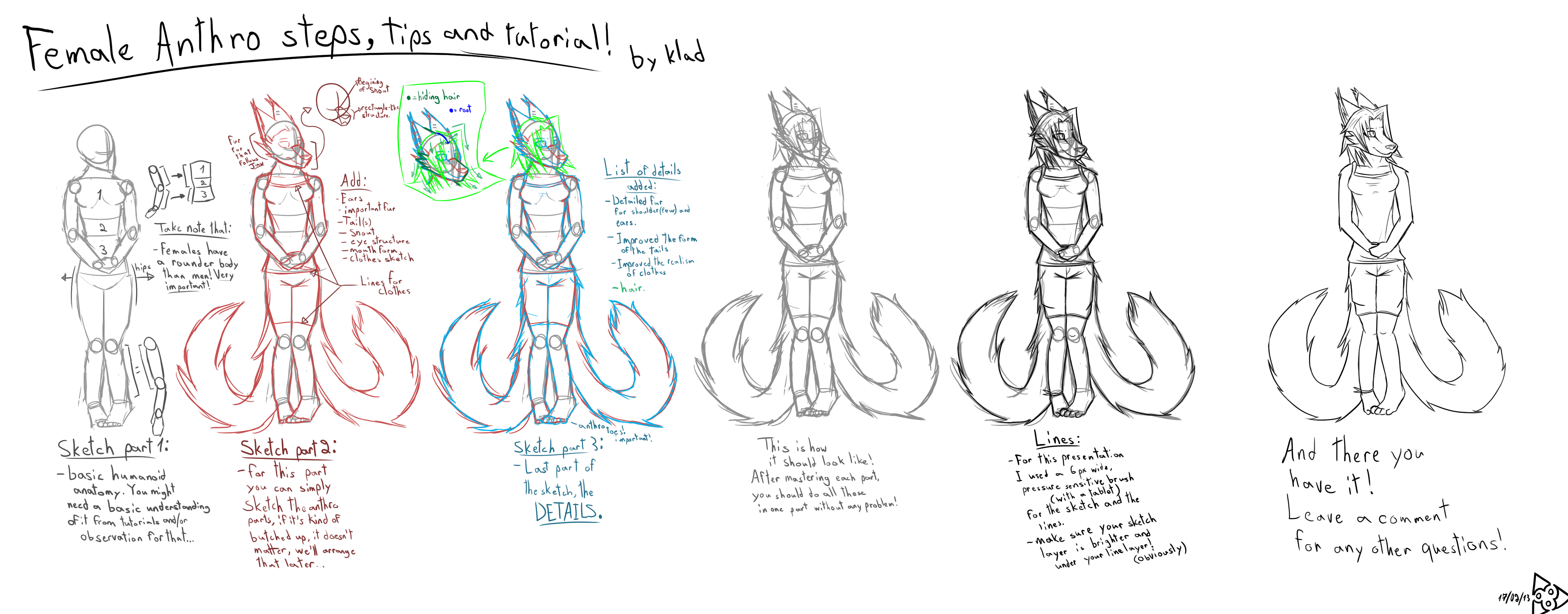 The Female anthro training/tips/steps/tutorial! by ...