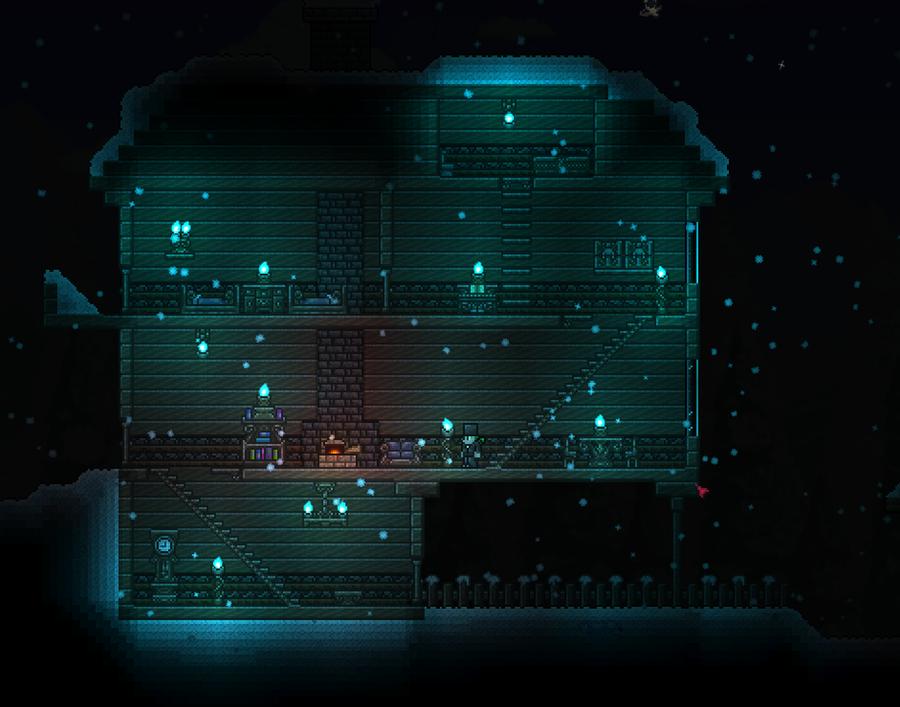 terraria boreal wood house 1