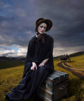 Waiting For The Stagecoach by Lora-Vysotskaya