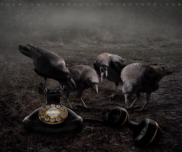 Four Calling Birds by Lora-Vysotskaya