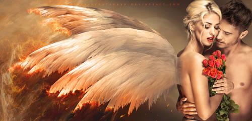 FALLEN in love ANGEL by Lora-Vysotskaya