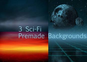 Sci-Fi Premade Background by Lora-Vysotskaya