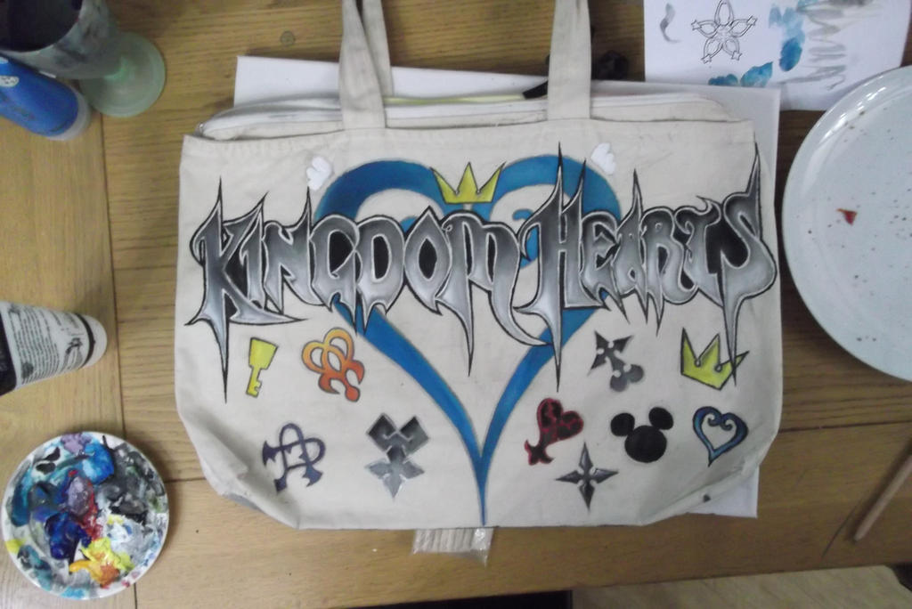 Kingdom Hearts bag (completed) by alexis360100