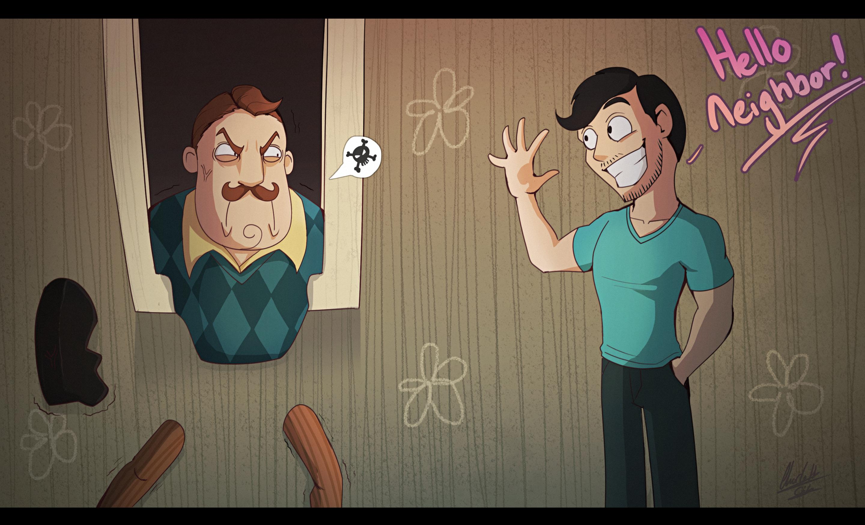 Hello Neighbor!! By BlueStripedRenulian On DeviantArt
