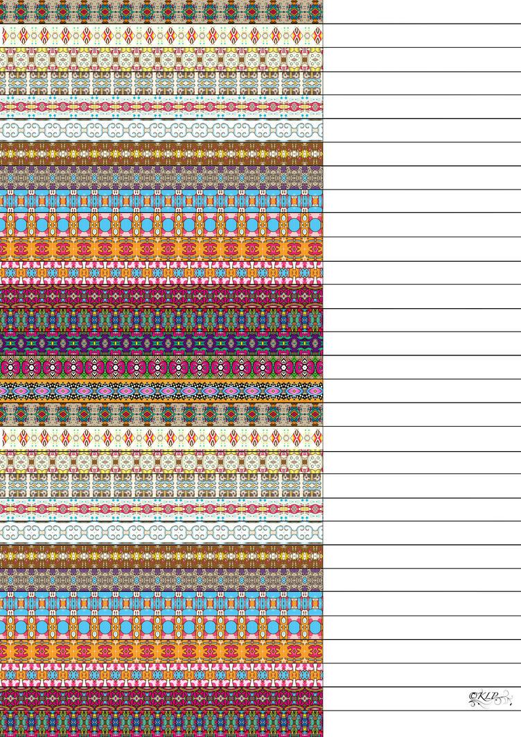 Modern Aztec Star Paper by kAt-LIkeS-pIE
