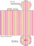 Striped Haxagonal Box Template