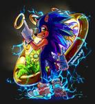 Sonic, but like he's a furry.