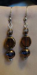 Amber Airship Earrings by vertabella