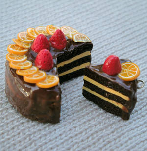 Choco Orange-berry Cake