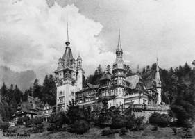 Peles Castle drawing by AATheOne