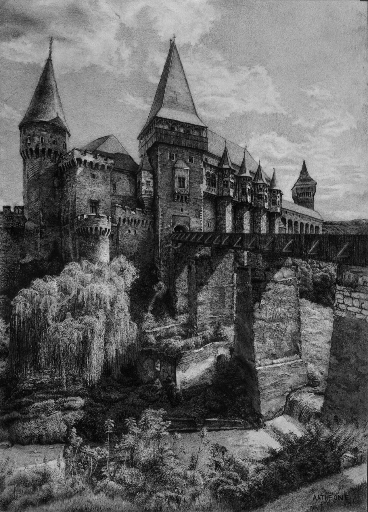 corvine castle drawing by aatheone corvine castle drawing by aatheone - Traditional Castle 2016