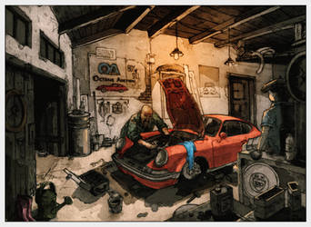 Garage Illustration by AATheOne