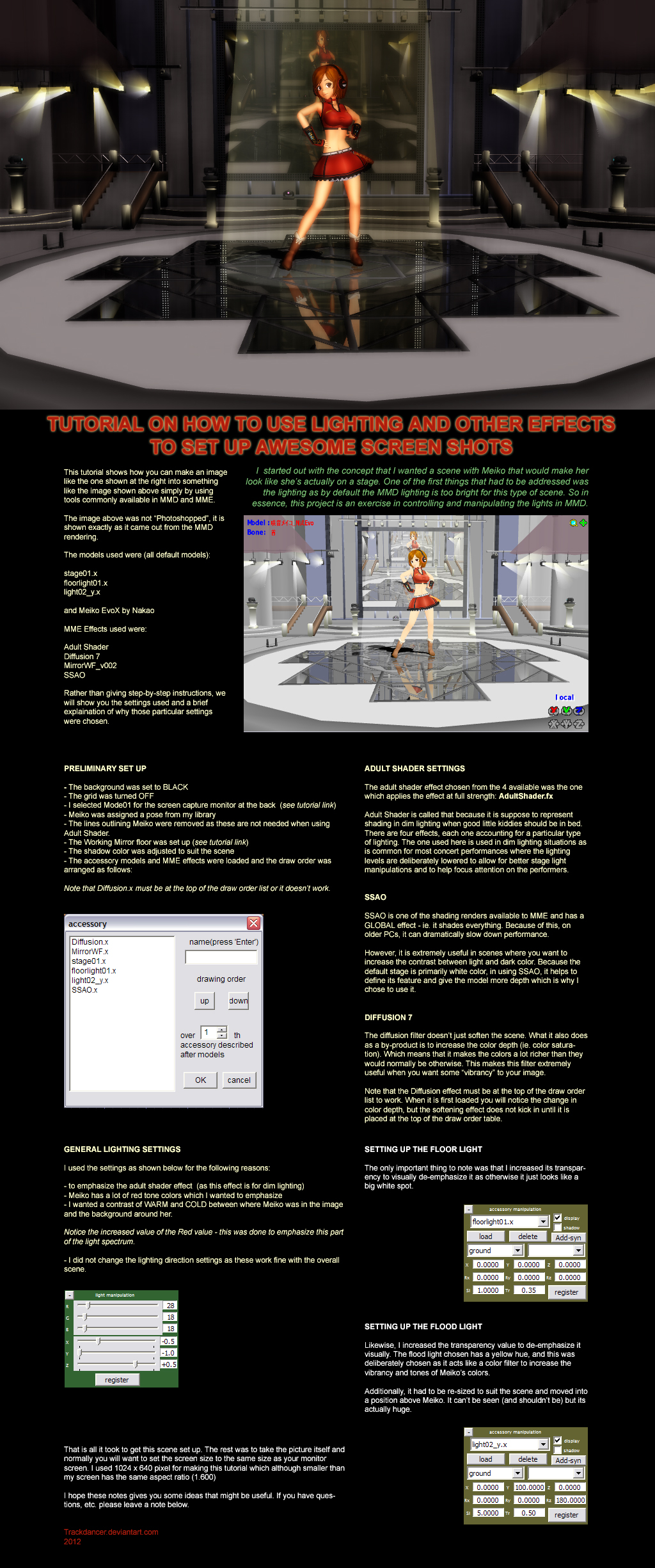 Mmd Making Awesome Screenshots Tutorial By Trackdancer On