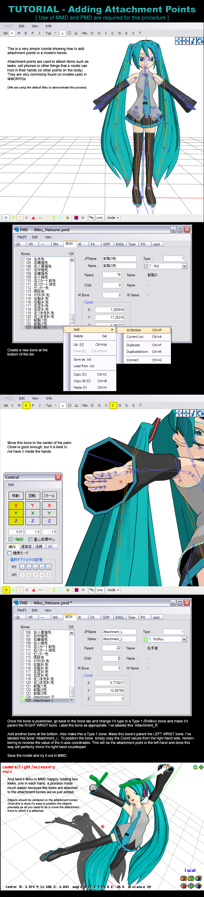 MMD/PMD Tutorial - Adding Attachment Points