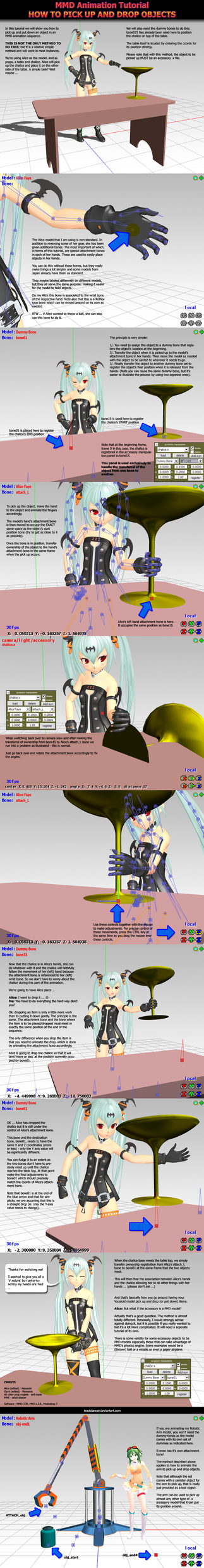 MMD Tutorial on picking up and dropping objects by Trackdancer