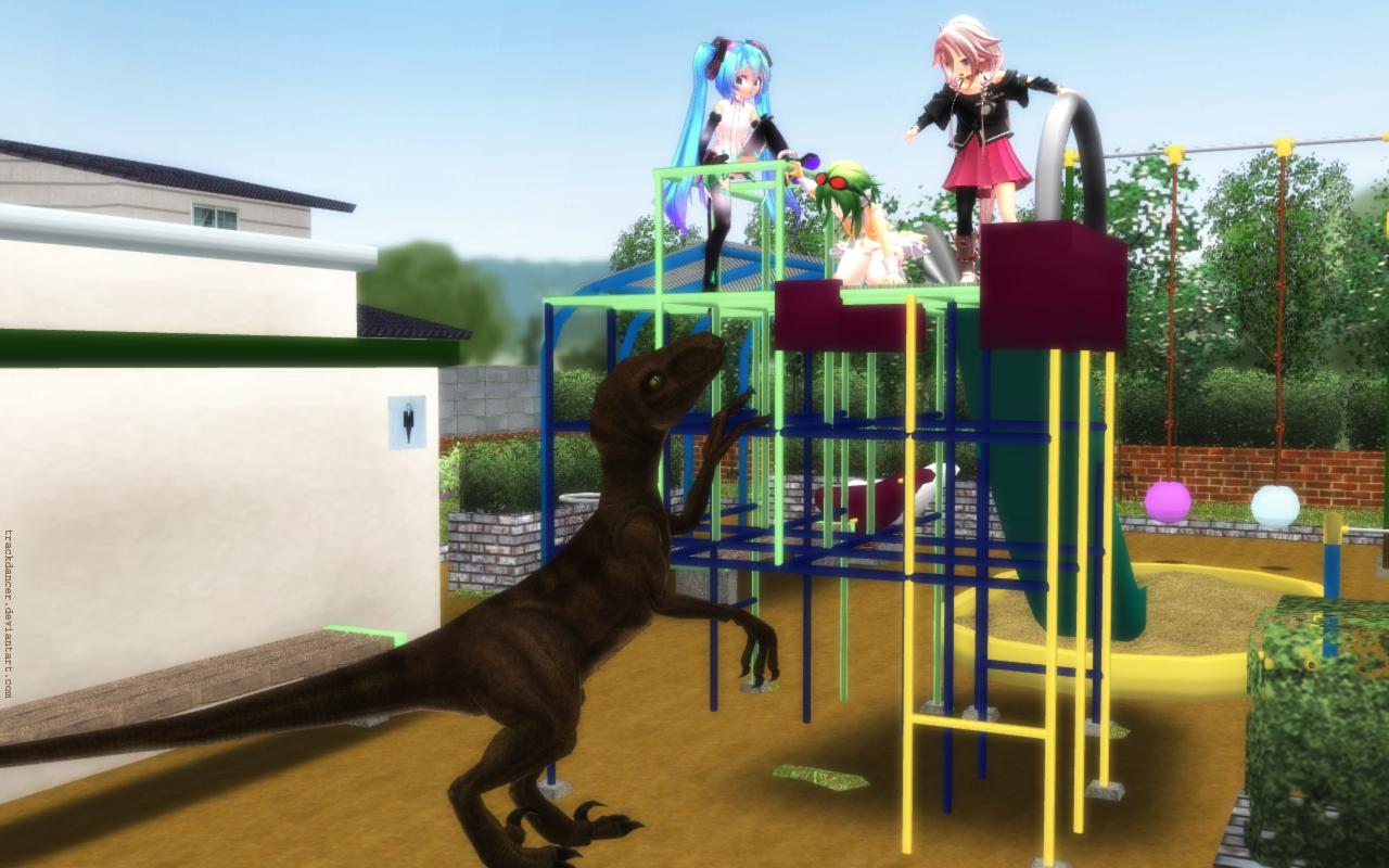 MMD Chibisaurus by Trackdancer