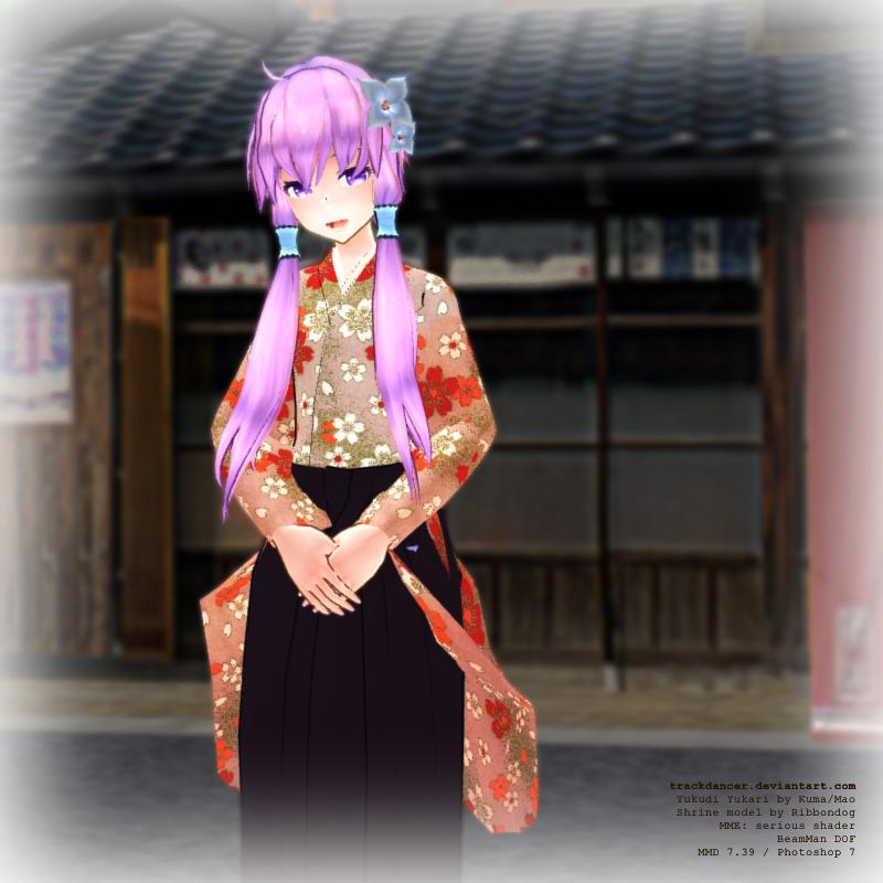MMD Yukari@Shrine by Trackdancer
