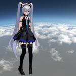 MMD Hagane Miku - WIP - Model Preview