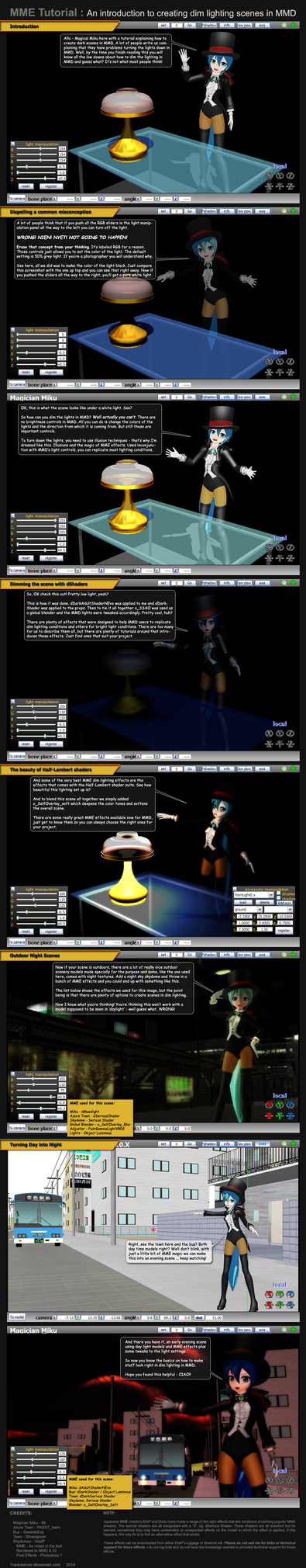 MME Tutorial: Creating Dim lighting scenes in MMD by Trackdancer