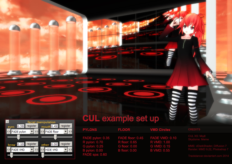 MMD metaPetal stage - CUL example by Trackdancer